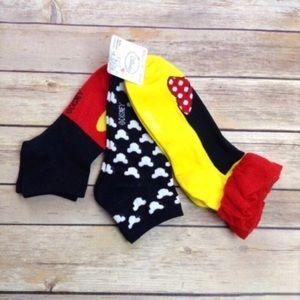 Minnie Mouse crew socks-3 pair